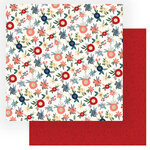 Photo Play Paper - Heart and Home Collection - 12 x 12 Double Sided Paper - Fresh Cut Flowers