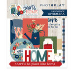 Photo Play Paper - Heart and Home Collection - Die Cut Cardstock Pieces - Ephemera