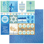 Photo Play Paper - Hanukkah Collection - 12 x 12 Double Sided Paper - Peace and Light