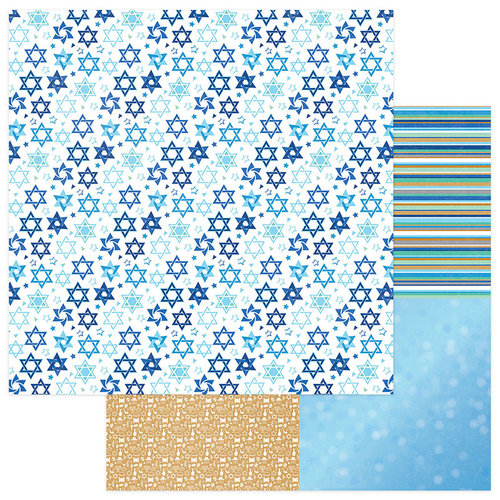 Photo Play Paper - Hanukkah Collection - 12 x 12 Double Sided Paper - Shine Bright