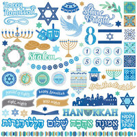 Photo Play Paper - Hanukkah Collection - 12 x 12 Cardstock - Elements
