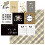 Color Play - Hello New Year Collection - 12 x 12 Double Sided Paper - Countdown
