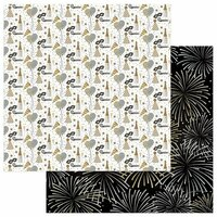 Color Play - Hello New Year Collection - 12 x 12 Double Sided Paper - Pop Fizz Clink