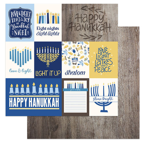 Photo Play Paper - Festival of Lights Collection - 12 x 12 Double Sided Paper - Love and Light