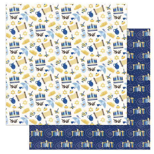Photo Play Paper - Festival of Lights Collection - 12 x 12 Double Sided Paper - Shalom