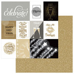 Photo Play Paper - Hello New Year II Collection - 12 x 12 Double Sided Paper - 3 x 4 Cards