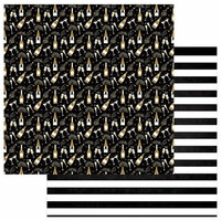 Photo Play Paper - Hello New Year II Collection - 12 x 12 Double Sided Paper - Pop Pour Fizz