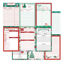 Photo Play Paper - Not A Creature Was Stirring Collection - 12 x 12 Double Sided Recipe Cards Paper - Vertical