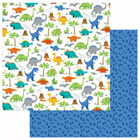 Photo Play Paper - Jurassic Collection - 12 x 12 Double Sided Paper - Stomp