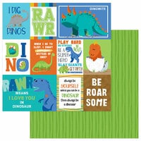 Photo Play Paper - Jurassic Collection - 12 x 12 Double Sided Paper - RAWR