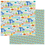 Photo Play Paper - Jurassic Collection - 12 x 12 Double Sided Paper - Dinomite