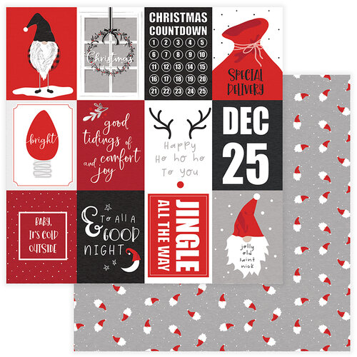 Photo Play Paper - Christmas - Kringle and Co Collection - 12 x 12 Double Sided Paper - Happy Ho Ho Ho
