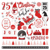 Photo Play Paper - Christmas - Kringle and Co Collection - 12 x 12 Cardstock Stickers - Elements