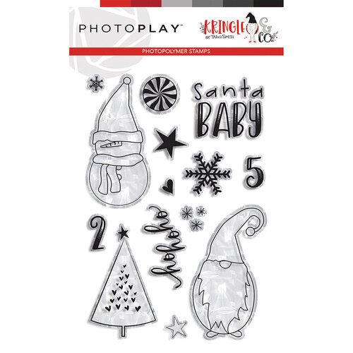Photo Play Paper - Christmas - Kringle and Co Collection - Clear Photopolymer Stamps - Ho Ho Ho