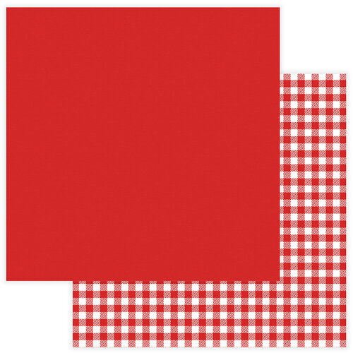 Photo Play Paper - Christmas - Kringle and Co Collection - 12 x 12 Double Sided Paper - Solids Plus - Red Check