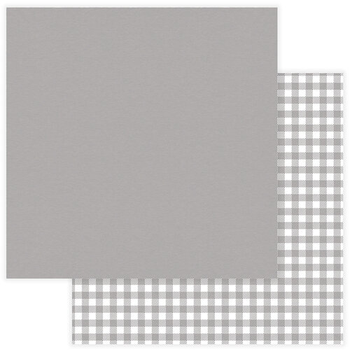 Photo Play Paper - Christmas - Kringle and Co Collection - 12 x 12 Double Sided Paper - Solids Plus - Grey Check