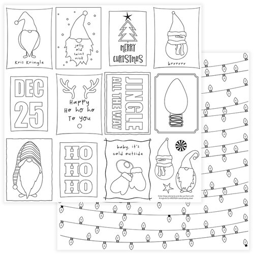 Photo Play Paper - Christmas - Kringle and Co Collection - 12 x 12 Double Sided Paper - Color Me
