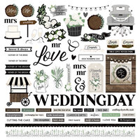 Photo Play Paper - Love and Cherish Collection - 12 x 12 Element Stickers
