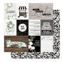 Photo Play Paper - Love and Cherish Collection - 12 x 12 Double Sided Paper - We Do