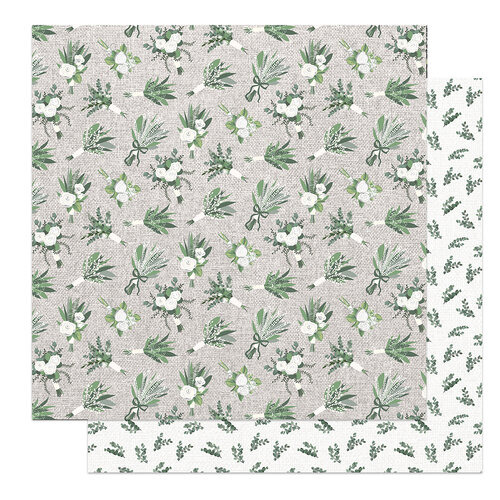 Photo Play Paper - Love and Cherish Collection - 12 x 12 Double Sided Paper - Bouquet