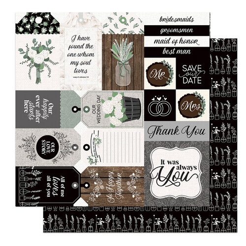 Photo Play Paper - Love and Cherish Collection - 12 x 12 Double Sided Paper - Our Story