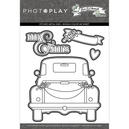 Photo Play Paper - Love and Cherish Collection - Etched Die Set
