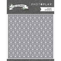 Photo Play Paper - Love and Cherish Collection - 6 x 6 - Stencil