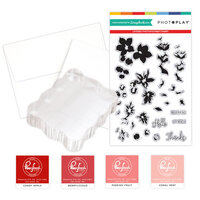 Photo Play Paper - Clear Photopolymer Stamp Set - Layered Blossoms Card Making Bundle One
