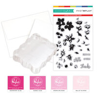 Photo Play Paper - Clear Photopolymer Stamp Set - Layered Blossoms Card Making Bundle Two
