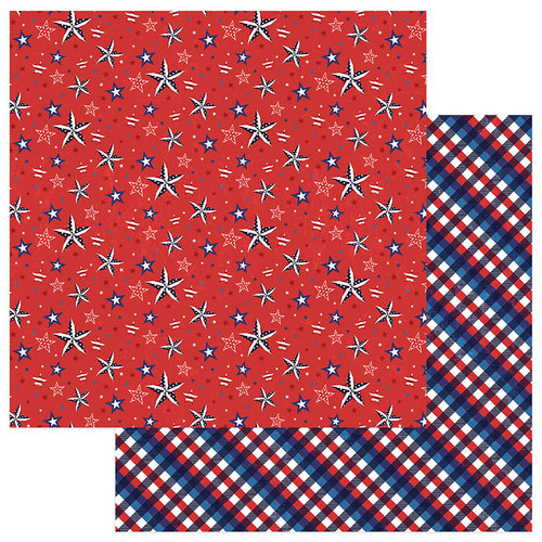 Photo Play Paper - Live Free Collection - 12 x 12 Double Sided Paper - Patriotic