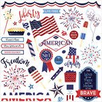 Photo Play Paper - Live Free Collection - 12 x 12 Cardstock Stickers - Elements