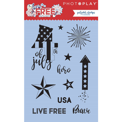 Photo Play Paper - Live Free Collection - Clear Acrylic Stamps