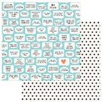 PhotoPlay Paper - Like a Girl Collection - 12 x 12 Double Sided Paper - You Are Enough