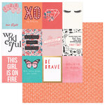 PhotoPlay Paper - Like a Girl Collection - 12 x 12 Double Sided Paper - Be Yourself - 3 x 4 Cards