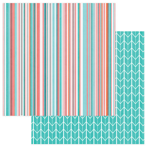 Photo Play Paper - Like a Girl Collection - 12 x 12 Double Sided Paper - Be Brave