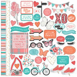 PhotoPlay Paper - Like a Girl Collection - 12 x 12 Cardstock Stickers - Elements