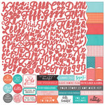 PhotoPlay Paper - Like a Girl Collection - 12 x 12 Cardstock Stickers - Alphabet