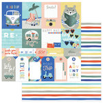 Photo Play Paper - Let's Go Collection - 12 x 12 Double Sided Paper - Let's Go