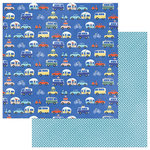 Photo Play Paper - Let's Go Collection - 12 x 12 Double Sided Paper - Road Trip