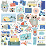 Photo Play Paper - Let's Go Collection - 12 x 12 Cardstock Stickers - Elements
