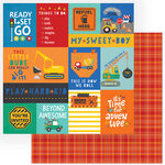 Photo Play Paper - Little Builder Collection - 12 x 12 Double Sided Paper - My Sweet Boy
