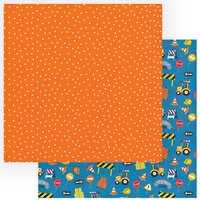 Photo Play Paper - Little Builder Collection - 12 x 12 Double Sided Paper - Construction Zone