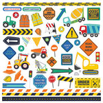 Photo Play Paper - Little Builder Collection - 12 x 12 Cardstock Stickers - Elements