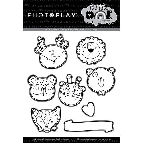Photo Play Paper - Little One Collection - Etched Die Set - Animals