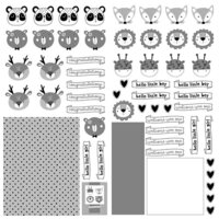 Photo Play Paper - Little One Collection - 12 x 12 Double Sided Paper - Elements - Animals