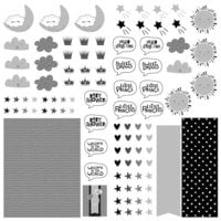Photo Play Paper - Little One Collection - 12 x 12 Double Sided Paper - Elements - Icons