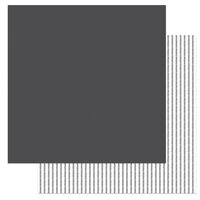 Photo Play Paper - Little One Collection - 12 x 12 Double Sided Paper - Solids Plus - Dark Grey