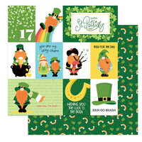 Photo Play Paper - Tulla and Norbert's Lucky Charm Collection - 12 x 12 Double Sided Paper - Luck of the Irish