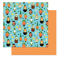 Photo Play Paper - Tulla and Norbert's Lucky Charm Collection - 12 x 12 Double Sided Paper - Kiss Me
