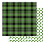 Photo Play Paper - Tulla and Norbert's Lucky Charm Collection - 12 x 12 Double Sided Paper - Bagpipes
